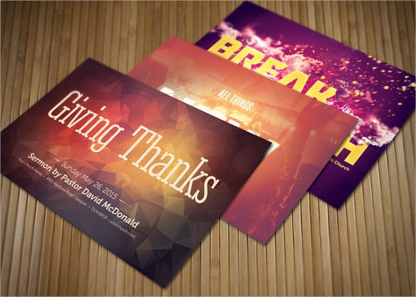 church postcard bundle for giving thanks