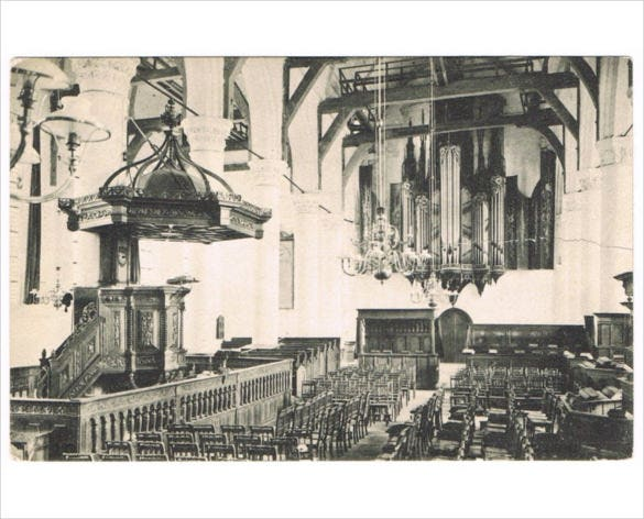 vintage christian church postcard