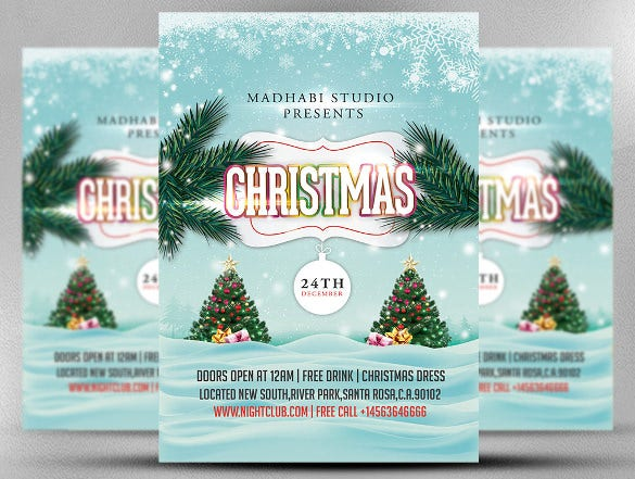 christmas flyer template christmas invitation