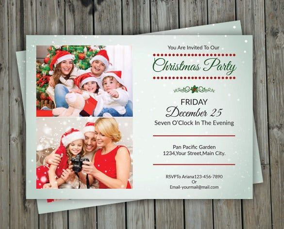 ash christmas invitation template