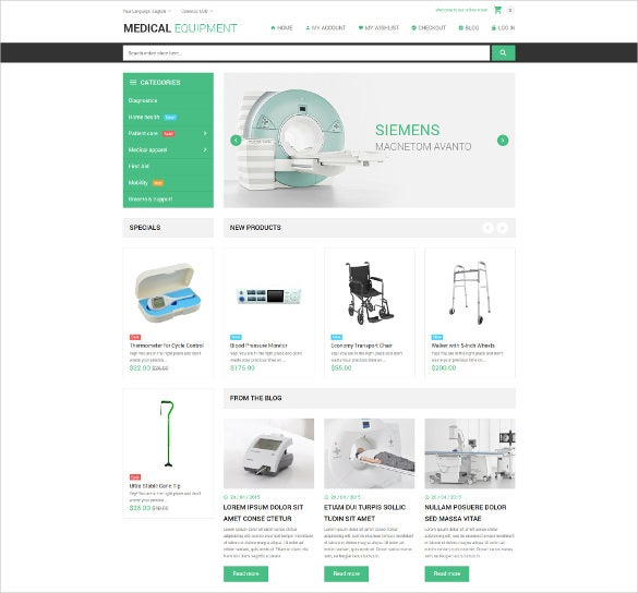 corporate medical stuff magento theme