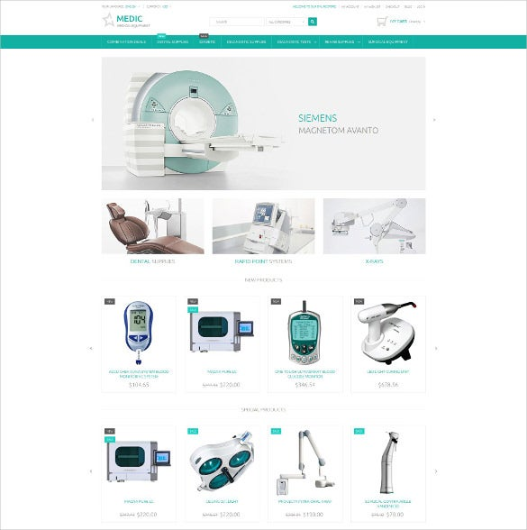 corporate medical equipment magento theme