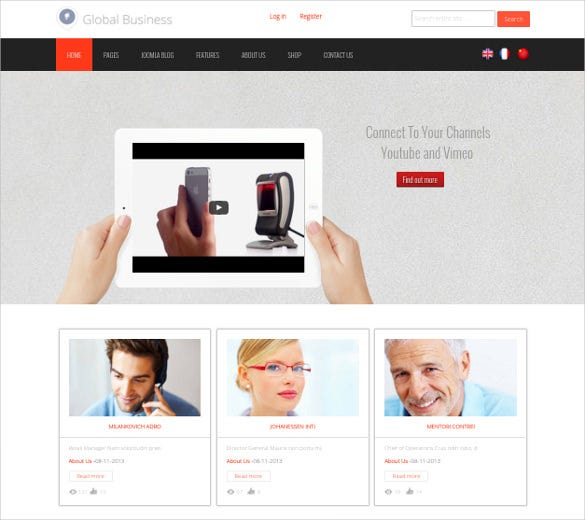 global business directory listing joomla theme