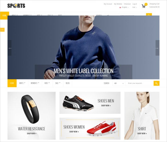 corporate sports magento theme