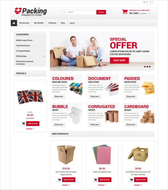 business corporate responsive magento theme