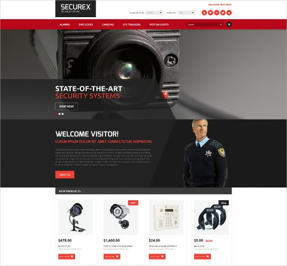 corporate security magento theme