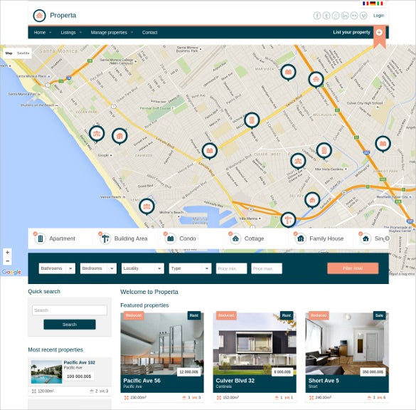 real estate directory listing drupal template
