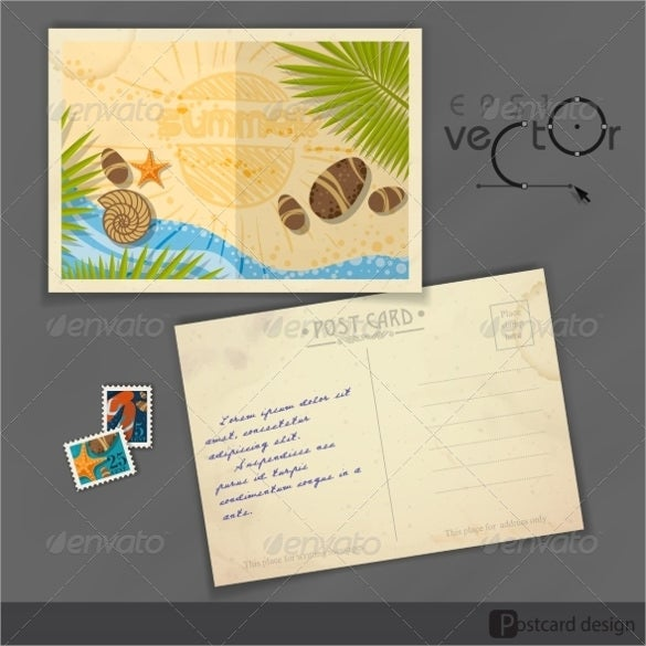 Old postcard template 15 free psd vector eps ai format download free premium templates for Postcard template ai