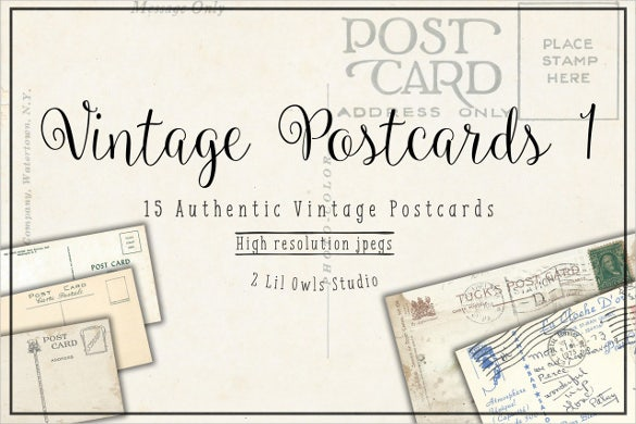 Old Postcard Template – 15+ Free PSD, Vector EPS, AI, Format ...