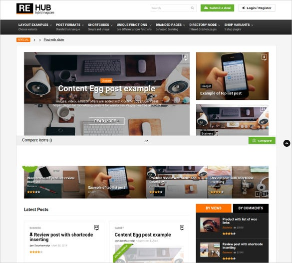 directory listing wordpress blog theme