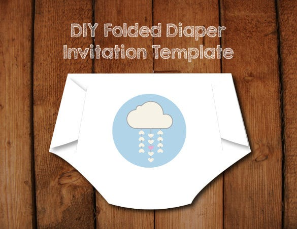 make your own diaper shaped baby shower invitations