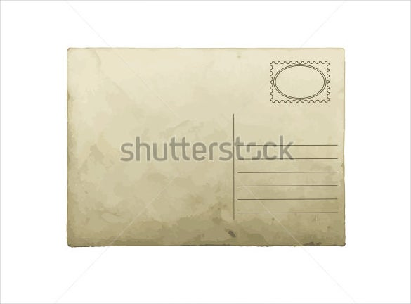 blank postcard in simple look