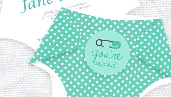 10  diaper invitation templates