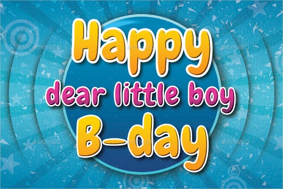 kids birthday postcard template