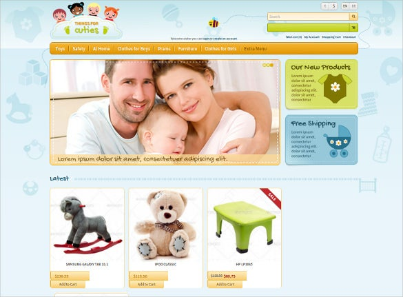 corporate opencart baby template