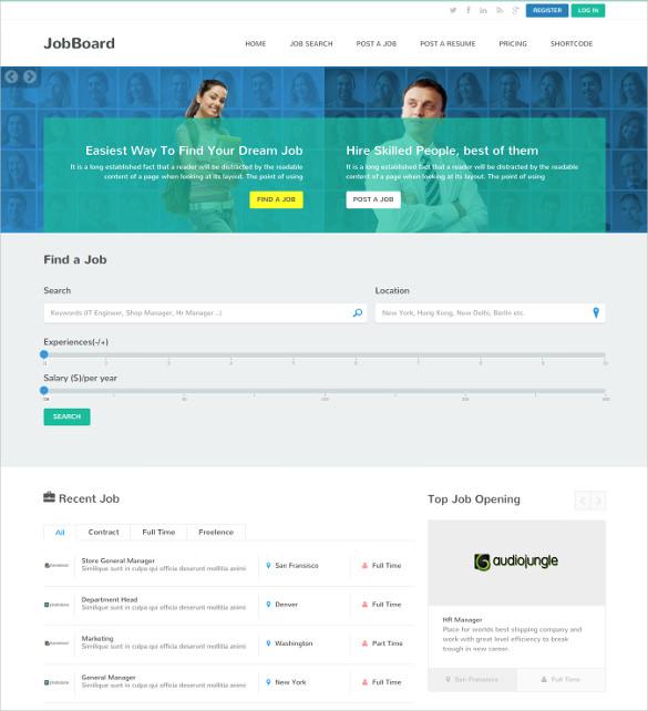 responsive job market directory listing blog html theme