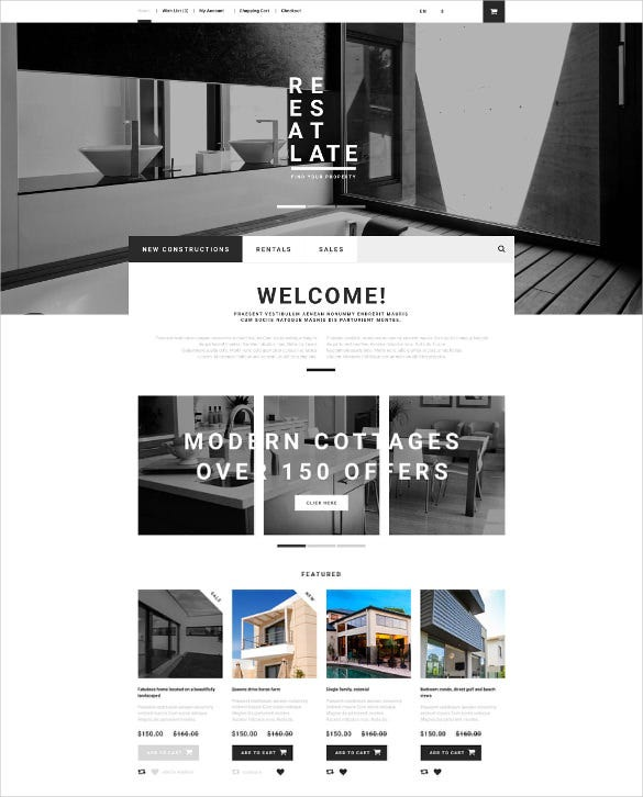 corporate real estate opencart theme