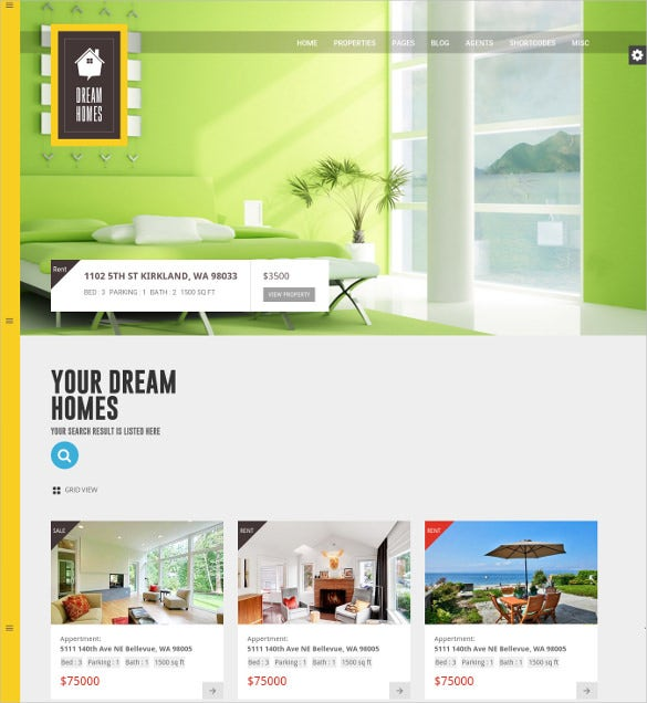 multi page directory listing html blog template