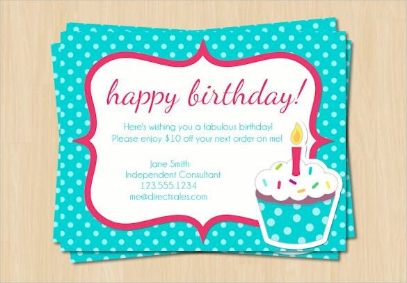 diy printable polka dot birthday postcard