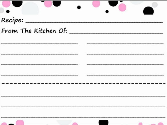 blank postcard of recipe