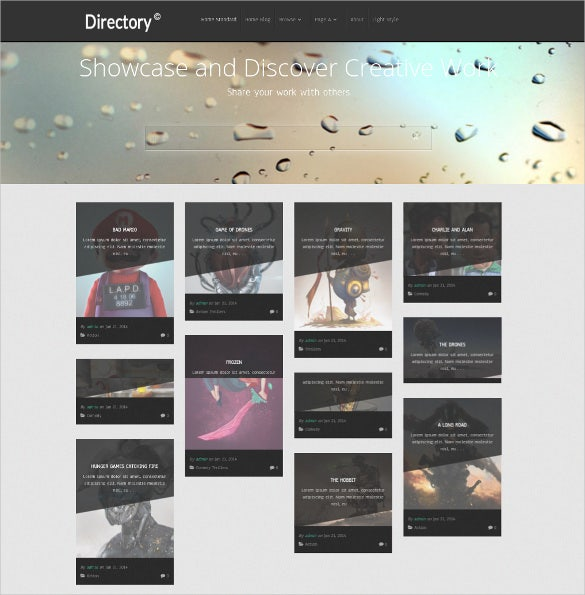 directory listing wordpress blog theme1