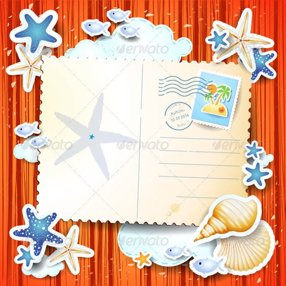 holidays background with blank postcard 5