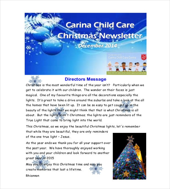 9 christmas newsletter templates free sample example format