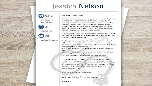 6 Medical Cover Letter Templates Free Sample Example Format Download Free Premium Templates