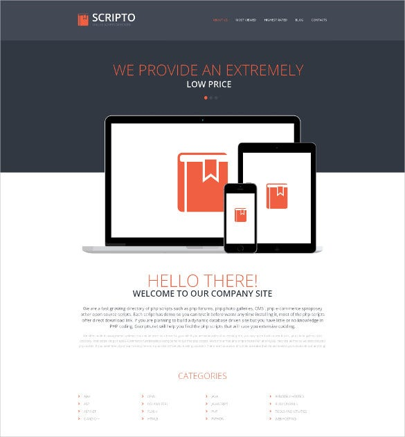 software company responsive directory listing website html5 template