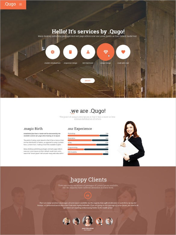 multi purpose one page directory listing html5 theme