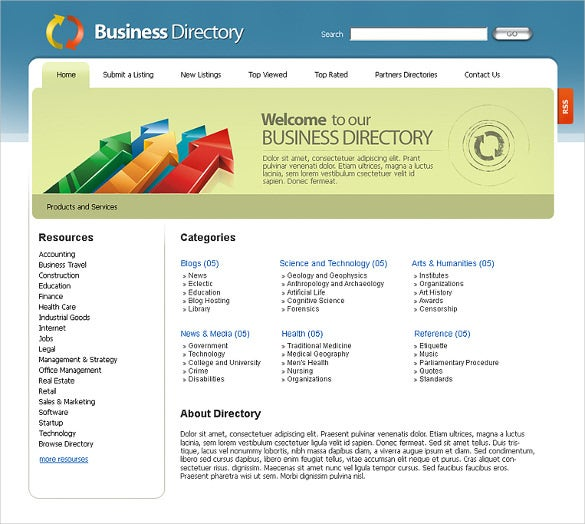 Free Business Directory Listing HTML5 Template