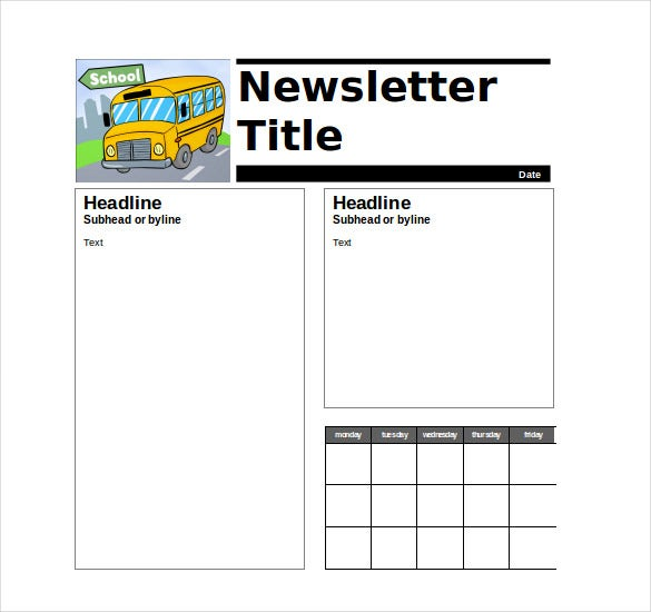 free newsletter templates for teachers - 9 teacher newsletter templates free sample example