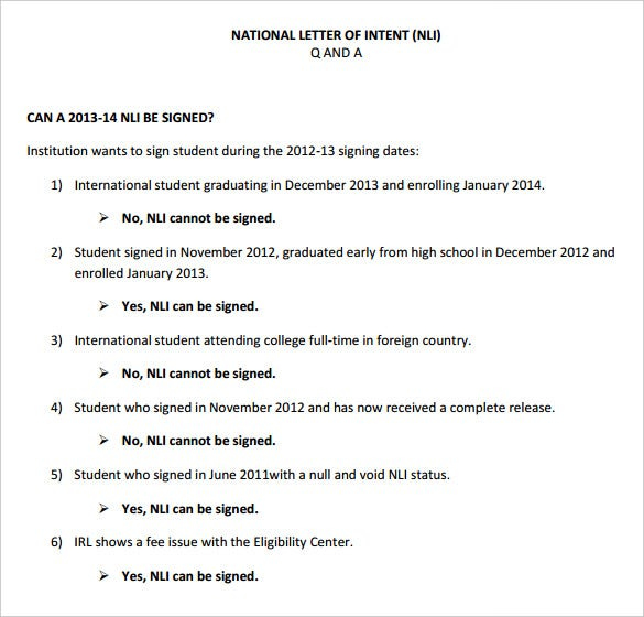 8+ National Letter Of Intent Templates – Free Sample, Example