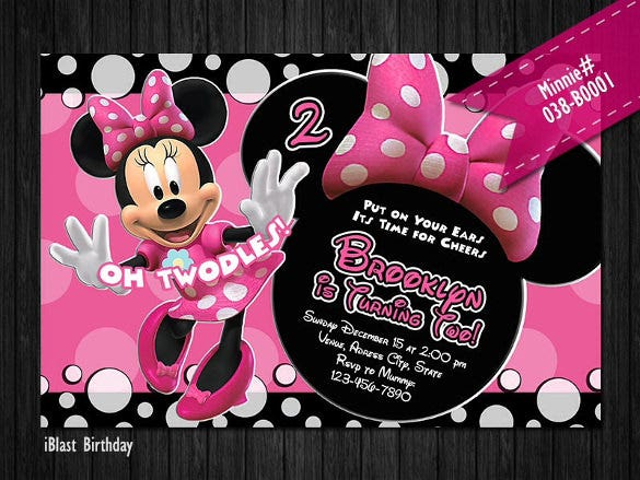 20+ minnie mouse invitation templates – free sample, example, Invitation templates