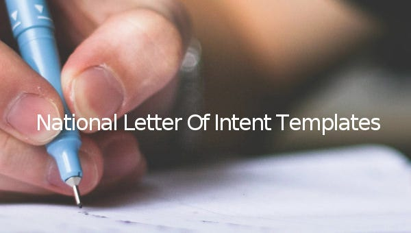 7  national letter of intent templates