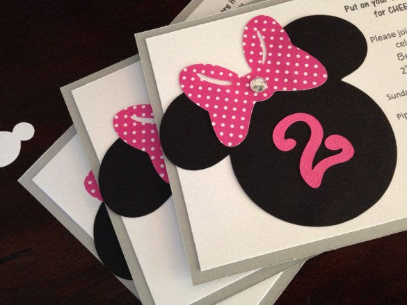 20 Minnie Mouse Invitation Templates Free Sample Example Format