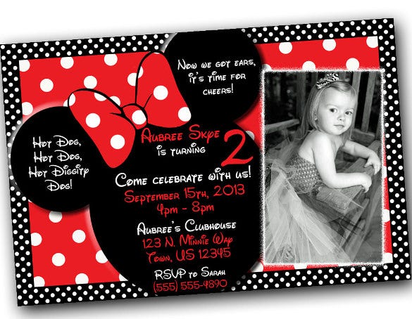 sample minnie mouse invitation template download