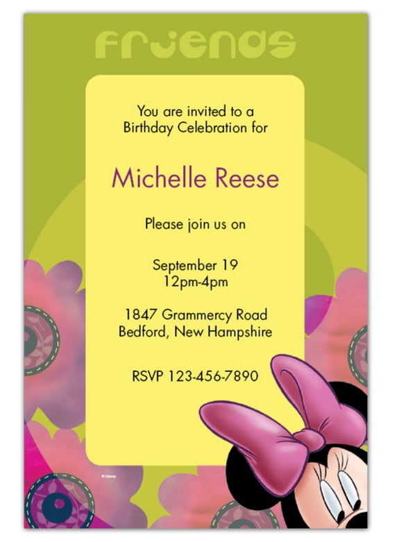 minnie mouse invitation template free