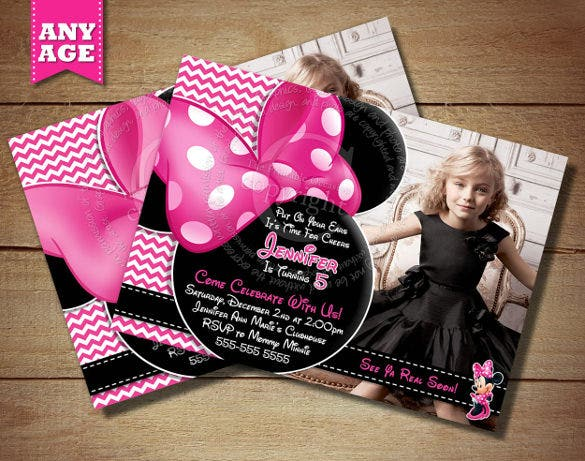 awesome minnie mouse invitation for birthday party