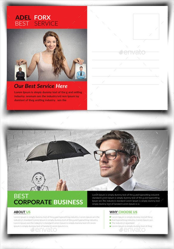 business postcard photoshop bundle