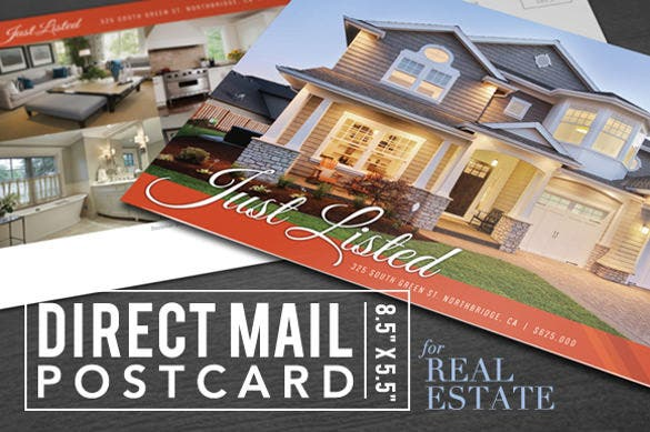 postcard photoshop for real estate template download