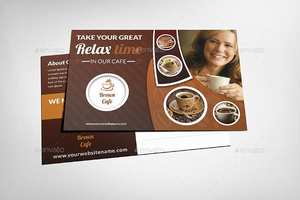 photoshop postcard with cup template