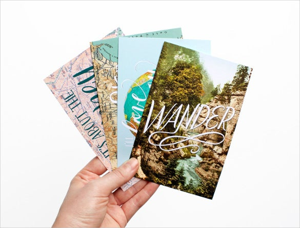 4 postcards in photoshop vintage download
