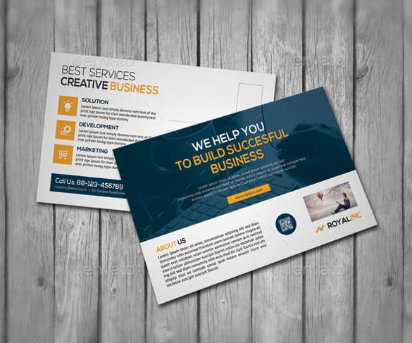 corporate postcard psd photoshop fomat 11