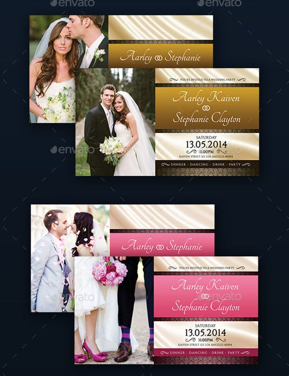 customizable wedding party invitation psd format