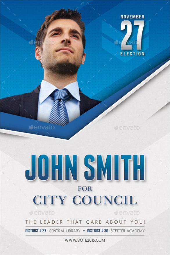 simple political election mailer postcard template