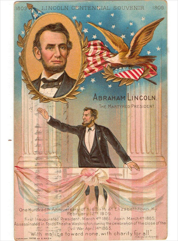 vintage political postcard template