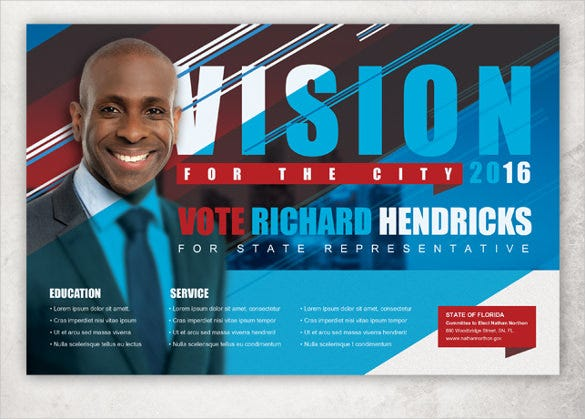 vision political flyer postcard template