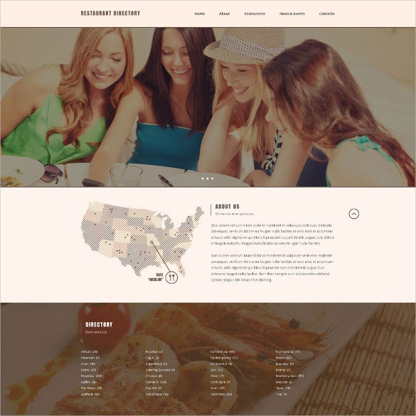 restaurant directory listing responsive website bootstrap theme
