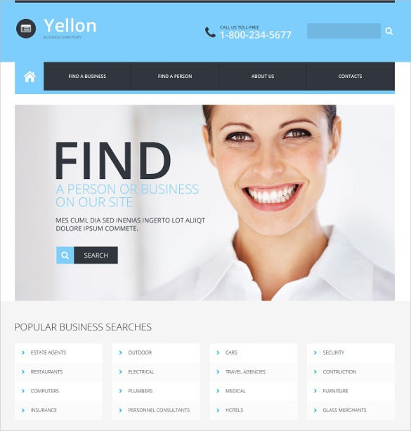business responsive directory listing website bootstrap template